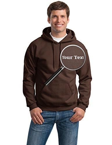 Brown Custom Hooded Sweatshirt (Custom Embroidered Hoodies - Pullover Embroidery Sweaters - Hooded Sweatshirts)