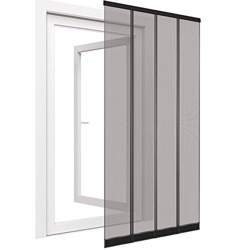 easy life® Insektenschutz Türvorhang 100x220cm anthrazit mit PVC Klemmleiste, eingenähten Gewichten & Fiberglas Lamellen
