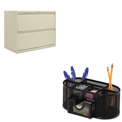KITALELF3629PYROL1746466 - Value Kit - Best Two-Drawer Lateral File Cabinet (ALELF3629PY) and Rolodex Mesh Pencil Cup Organizer (ROL1746466) by Best