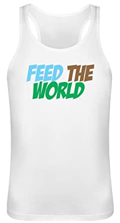 1c0df36a5730a Feed The World Tank Top T-Shirt for Men   Women - 100% Soft Cotton ...