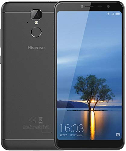 "Hisense Infinity F24 16GB GSM Unlocked 6"", 2.5D Curved Glass Display 4G LTE Android 7.0 (Nougat) Smartphone w/ 13MP Camera - Black"