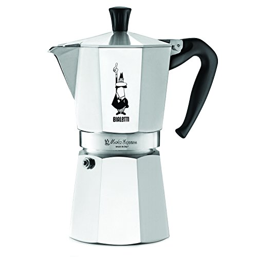 The Original Bialetti Moka Express Made in Italy 9-Cup Stovetop Espresso Maker with Patented Valve Metal Espresso Maker