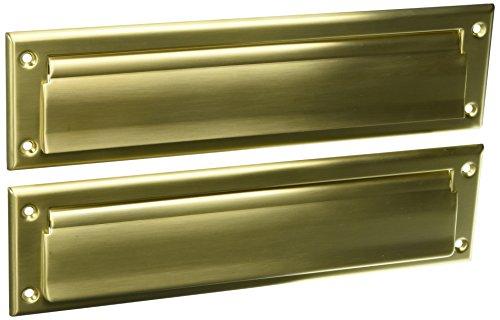 Plate Baldwin Letterbox Brass - Baldwin 0014033 Letter Box Plate Vintage Brass