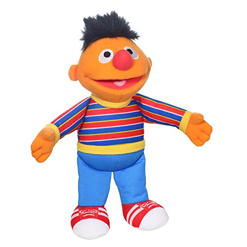 (Sesame Street Mini Plush Ernie Doll: 10-inch Ernie Toy for Toddlers and Preschoolers, Toy for Kids 1 Year Olds and Up )
