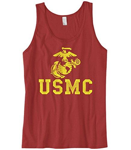 Marine Corps Tank - Cybertela Men's United States Marine Corps USMC Tank Top (Red, Large)