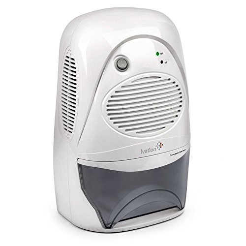 Ivation Powerful Mid-Size Thermo-Electric Dehumidifier - Quietly Gathers Up to 20oz. of Water per Day - For Spaces Up to 2,200 Cubic Feet by Ivation