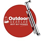 Pro Bike Tool Mini Bike Pump with Gauge, Presta and Schrader Valve Compatible Bicycle Tire Pump for Road, Mountain and BMX Bikes, High Pressure 100 Psi, Mount