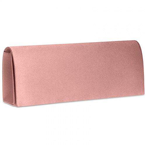 soirée rose pour femme à Pochette vieux TA278 Clutch satin de de main CASPAR en Sac soirée OwZq0Y1
