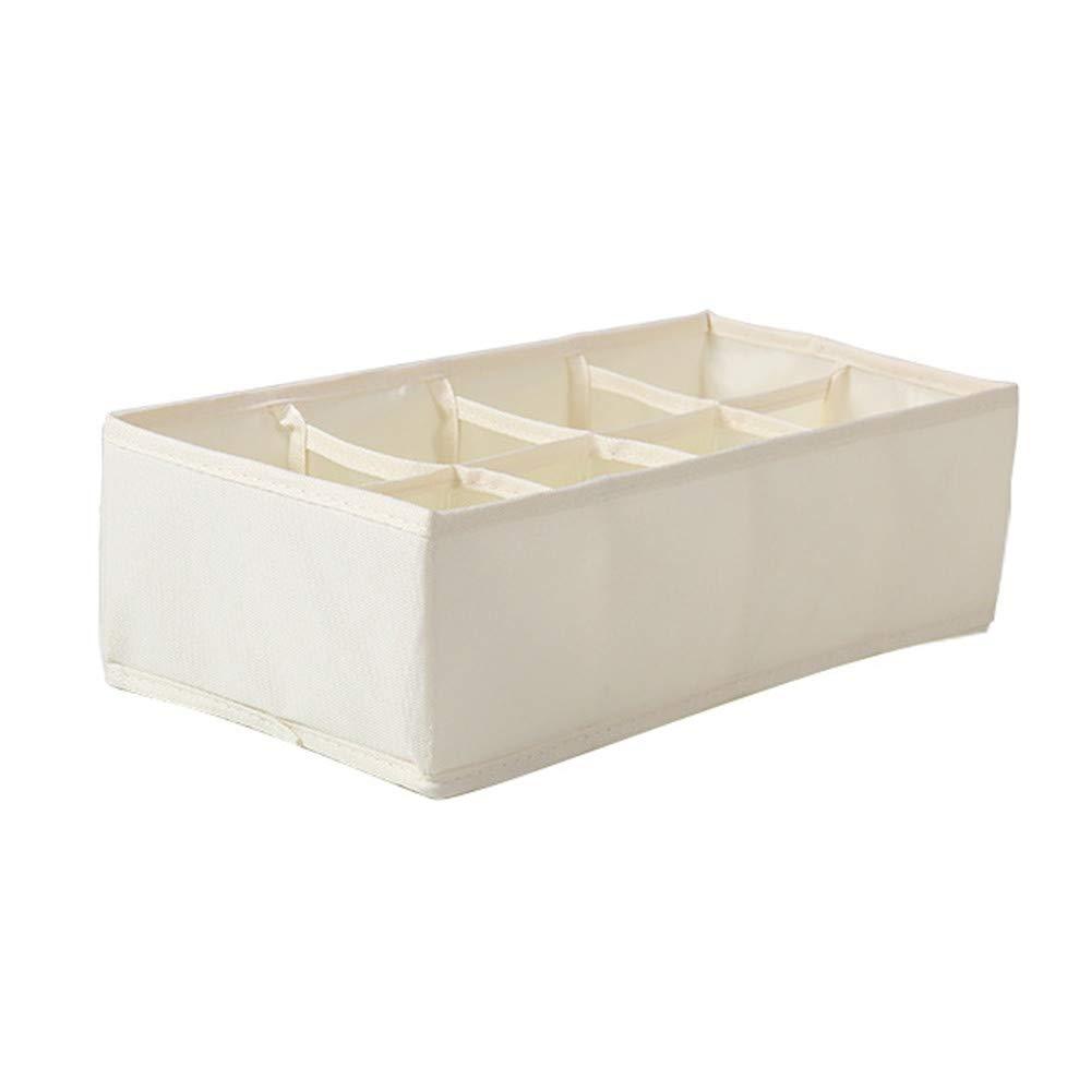 FarJing Closet Organizer Box for Underwear Bra Socks Ties Scarves Storage Drawer Divider Storage Box(A