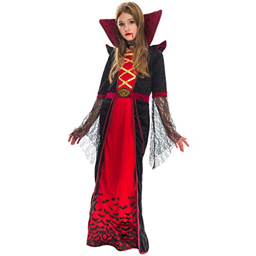 Spooktacular Creations Vampire Girl Costume (Medium) Red