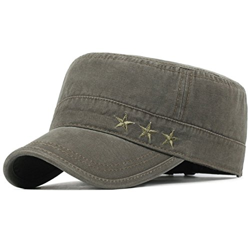 Classic Plain Army Military Cadet Cotton Caps Baseball Hats (One Size, B-Army Green)