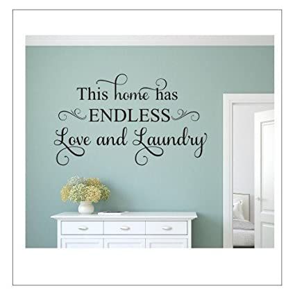 This Home Has Endless Love And Laundry Family Love Wall Decals Quotes For Living  Room Wall