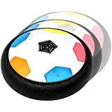 Mini Hover Soccer Ball – BamGo New Hovering Football Toy for Indoors | for Kids and Toddlers | Flashing Colored LED Lights Floating Disk for Children (Girls & Boys) | w/ D2D Replacement
