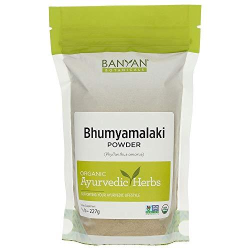 Banyan Botanicals Bhumyamalaki Powder - Certified Organic, 1/2 Pound - Phyllanthus amarus - Detoxifies and strengthens the liver*
