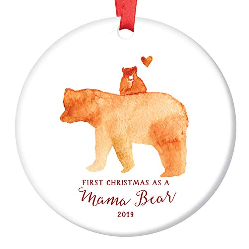 New Mommy Mama Bear Ornament 2019 Cute First Christmas New...