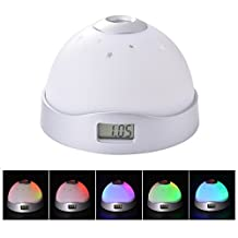 XCSOURCE Alarm Clock 7-color Changeable LED Magic Starry Sky Moon & Stars Projection Night Light AH227