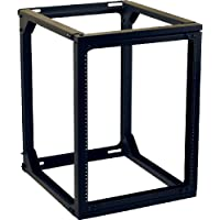 VMP ER-W24 19-Inch Wall Mounted Equipment Rack (24-Inch Height, Black)