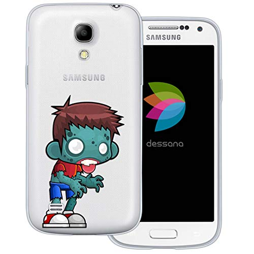 dessana Zombie Pattern Transparent Protective Case Phone Cover for Samsung Galaxy S4 Mini Comic -