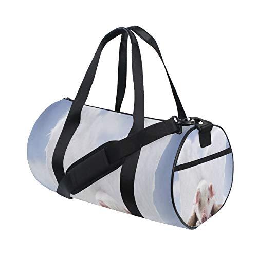 (Gym Bag Angel Pig Duffel Bag for Men and Women Travel Sport)