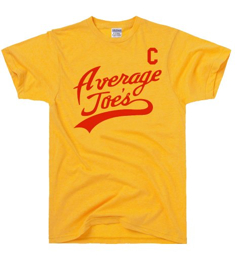 DirtyRagz Men's Average Joe's Jersey Movie Dodgeball Costume T Shirt L Gold ()