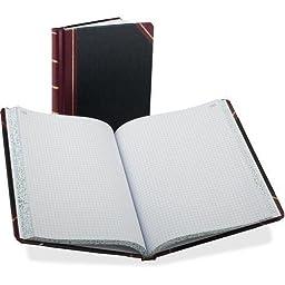 Boorum & Pease Bound Columnar Book, Quadrille Ruled, 5 Squares/Inch, 300 Pages, 10-3/8x8-1/8 (ESS21300Q) (21-300-Q)