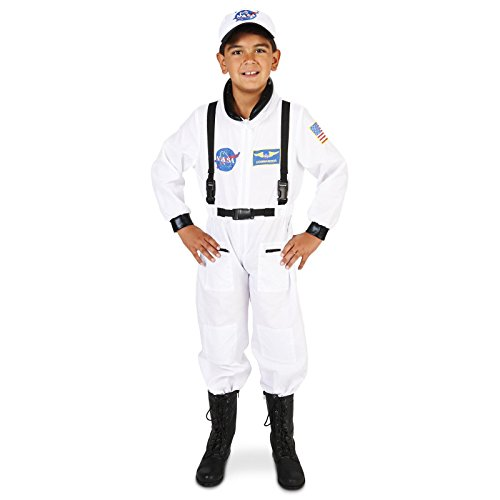 White Astronaut Child Dress Up Costume L (Astronaut Costume Kids)
