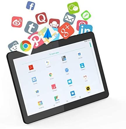 Black 10 inch Tablet Android 9.0 Octa Core with 4GB RAM 64GB ROM Tablet PC Unlocked 3G Phone Call Phablet