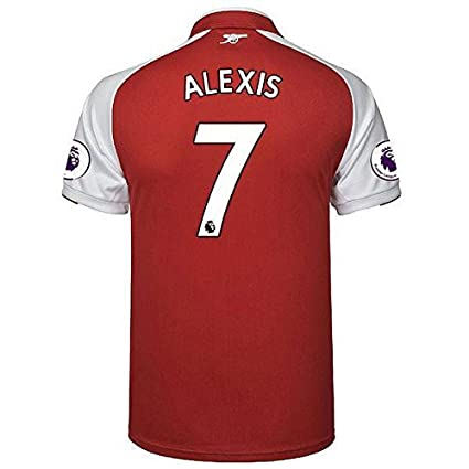 Shamyaan Alexis Sanchez Jersey - Arsenal Home Jersey Kit for Adults -  Arsenal  7 Alexis Sanchez Jersey - Half Sleeve New Latest Season 2017 -  2018 - Replica ... 26eda8b9e