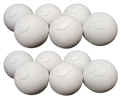 12 Pack of Velocity Lacrosse Balls for Adults & Kids: Official Size for Professional, College & High School. NOCSAE, NCAA, NFHS Certified & Officially Licensed. - Color White.