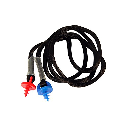 Radians CEPNC-B Custom Molded Earplugs Black Neckcord with Red and Blue Screws ()