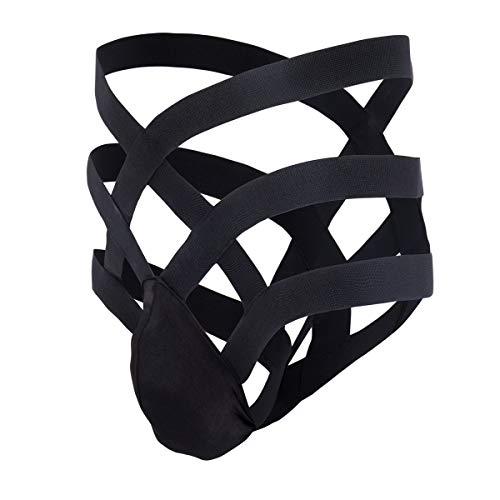 8197330f1f8 Men's Sexy Lingerie Briefs Bandage Thong Bulge Pouch T-Back Strap G-String  Bikini Underwear Underpants Night Sleepwear Black US M