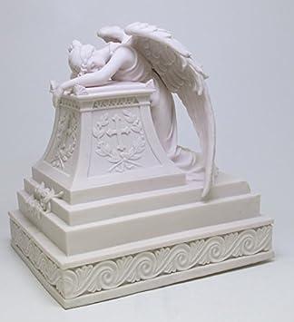 PTC 13 Inch Mourning Angel Keepsake Urn Religious White Statue Figurine