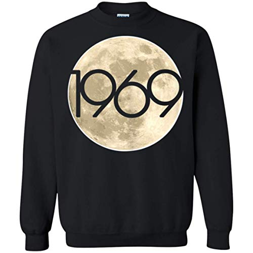 50th Anniversary Apollo 11 1969 Moon Landing Crewneck Pullover Sweatshirt for Men Women ()