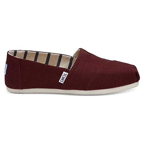 TOMS Women's Black Cherry Heritage Canvas ALPR ESP 10011678 (Size: 7)