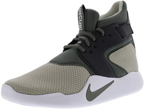 (Nike Men's Incursion Mid Pale Grey/River Rock - Black High-Top Basketball Shoe 9M)
