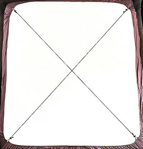 Tirantes Ajustables Para Sujetar Sábana (2 Unidades, Tipo A, Color Negro)