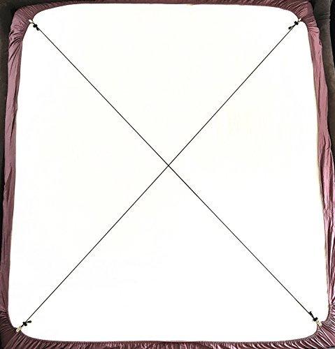 Bretelle Regolabili Per Lenzuola Con Ganci, Confezione Da 2, Colore: Nero Jubliss