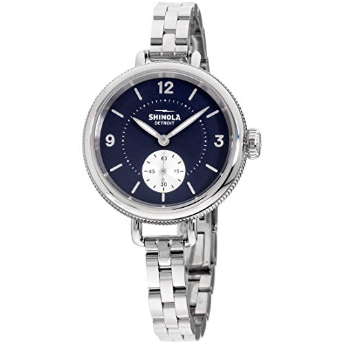 Shinola Birdy Quartz Movement Blue Dial Ladies Watch S0120161932