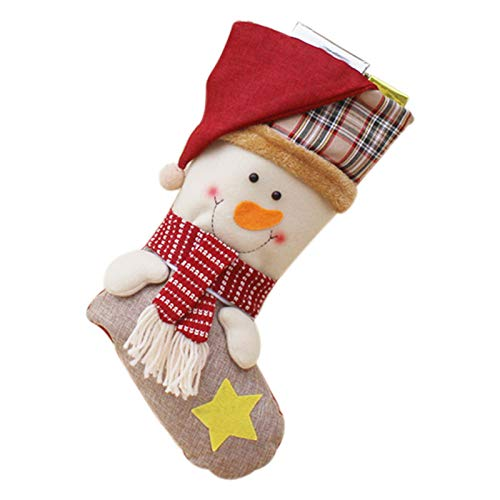 - Christmas Stockings Santa Claus Sock Gift Kids Candy Bag Xmas Noel Decoration for Home Christmas Tree Ornaments A2