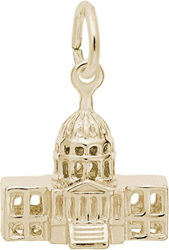 Rembrandt United States Capitol Building Charm - Metal - 14K Yellow Gold