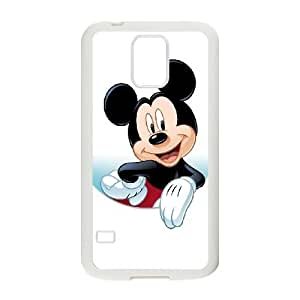 Samsung Galaxy S5 Cell Phone Case White Disney Mickey Mouse Minnie Mouse Byvz