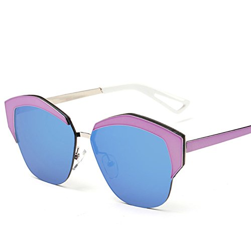 SnikFish Fashion Trends Personalities Women Color Film Sunglasses (blue)