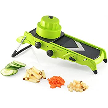 microplane adjustable slicer with julienne blade how to use
