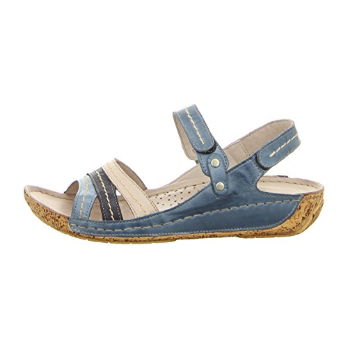 Mujeres Sandalias 02/882°jeans/navy Multi color, (02/882°jeans/navy) 032023