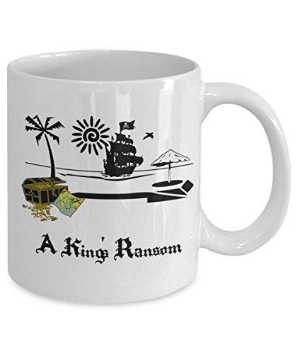 Pirate Flag Coffee Mug - Pirate Skull Mug - Pirate Ship Mug - A King's Ransom Coffee Mug