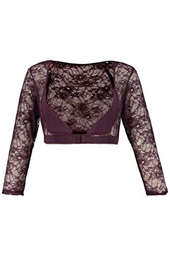 Ulla Popken Women's Plus Size Sexy Lace Topper BlackBerry 20/22 714599 80 ()