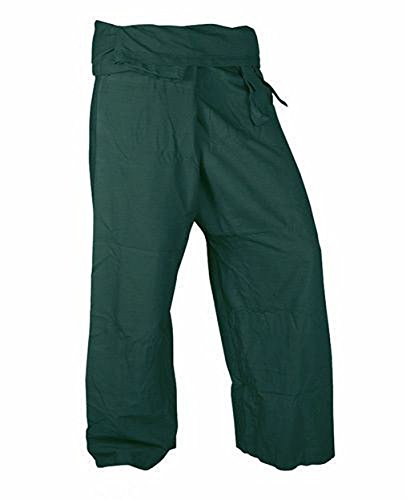 Lovely Pants Rayon Fabric Yoga Trousers Thai Fisherman Pants Lululemon Yoga Pants Free Size Dark Green Color - Trap Goddess Costume