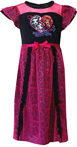 Monster High Big Girls' Dressy Gown, Pink, Large ()
