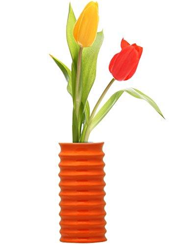 12 Days Of Deals Sale On Tall Flower Vase 6 6 Long Ceramic Orange Flower Vase For