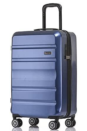 QANTAS Melbourne 56cm Wheelaboard Carry-on, (Blue), (QF970-56-B)